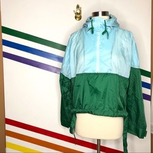 NEW Without Walls nylon boxy windbreaker